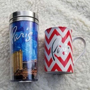 Paris Coffee Mugs 1 for home, 1 for on the Go!!